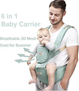 Baby and Child Carrier Hip Seat 6 in 1 Egornomic Designed Hands Free for All Seasons, Easy Breastfeeding, No Infant Insert...