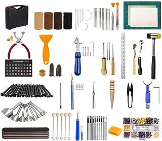 Puzzle Kit de Gravure sur Cuir Boucle Ardillon Rivet Couture Kit D'artisanat en Cuir Kit D'outils De Travail en Cuir Tapis...