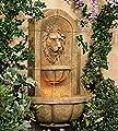 "John Timberland Lion Head Faux Stone 29 1/2"" High LED Wall Fountain"
