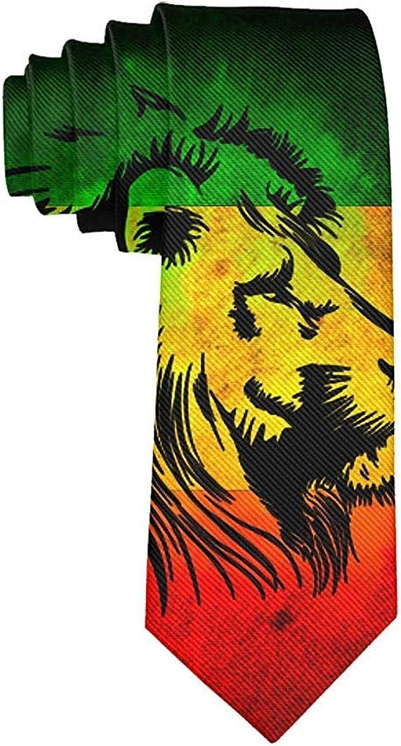Men's Jamaican Lion Necktie Polyester Silk Soft Business Gentleman Tie Necktie
