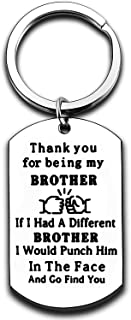 Brother Gifts Keychain Gifts for Borther Brother Birthday Gifts for Men Boys Gifts Key Ring Keyrings for Men Key Chain