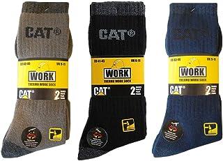 Cat Hombre Calcetines Térmicos De Trabajo Calcetines en 41 – 45, disponible 4|6|8 pares, en negro o gris o azul o marrón 4 Paar Schwarz