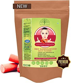 Hollywood Secrets Premium Organic Red Sandalwood Powder With 100% Sandalwood Oil 50 gm