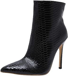 VulusValas Women Stiletto Ankle Boots Zip