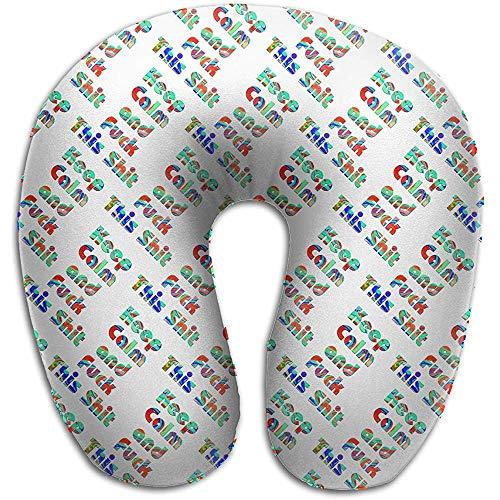 Warm-Breeze Behalten Sie Ruhe und Ficken Sie Dieses U-förmige Kissen der Scheiß-Farbe Erhalten Sie eingewickelten Komfort-Vorlagenhalskissen-Gedächtnis-Schaum