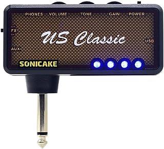 SONICAKE Amplificador de bolsillo para uso con auriculares US Classic para guitarra