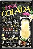 Blechschilder PINA Colada Cocktail – Alkohol Deko Schild