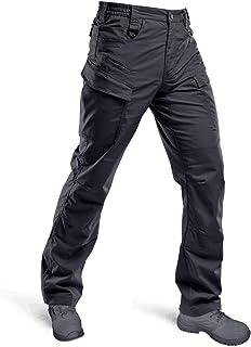HARD LAND Men's Waterproof Tactical Pants Ripstop Lightweight Work Cargo Pants with Elastic Waist