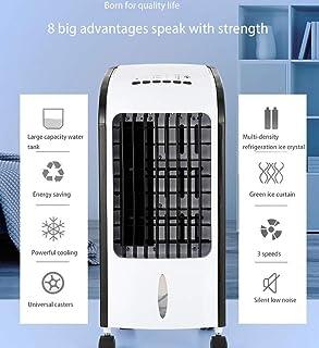 GAOJIN Aire Acondicionado Portatil Air Cooler Tanque De Agua De Gran Capacidad Ahorro De Energía Cristal De Refrigeración De Densidad Múltiple Ventilador Eléctrico Silencioso