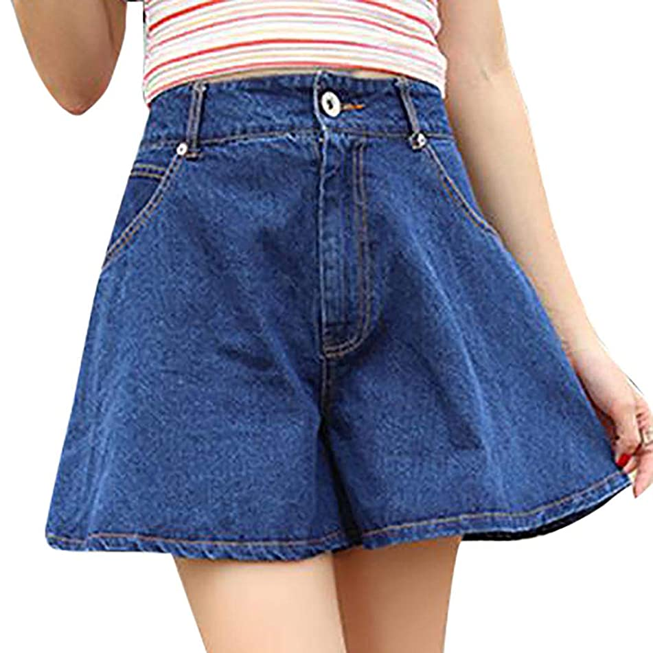 Simayixx Jean Shorts for Women Ladies Distressed Short Pants High Waist Ripped Denim Bodycon Loose Jeans
