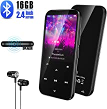 $24 » MP3 Player with Bluetooth 16GB Gueray Lossless Sound 2.4 Inch Screen MP3 Music Player Built-in Speaker FM Radio Metal Touch Button Running Sport Voice Recorder Video E-Book TF Card up to 128GB