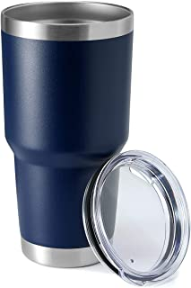 30oz Tumbler Stainless Steel Coffee Tumbler Double Wall Vacuum Insulated Travel Mug with Lid (Navy, 1 Pack)
