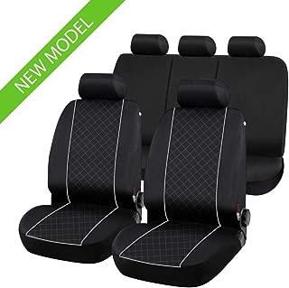 2003-2010 compatibili con sedili con airbag con Fori per i poggiatesta e bracciolo Laterale Coprisedili Anteriori Neri MERIVA Versione