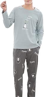 Big Boys Long Sleeve Pants Pajamas Set Young Teens Sleepwear 13-20 Years