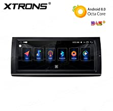 XTRONS 10.25 Inch Touch Display Car Stereo Radio Android 8.0 Octa-Core 4GB DDR3 RAM 32GB ROM Multimedia Receiver GPS Navigation Supports Bluetooth 5.0 SWC DVR Backup Camera OBD2 WiFi for BMW E53 X5