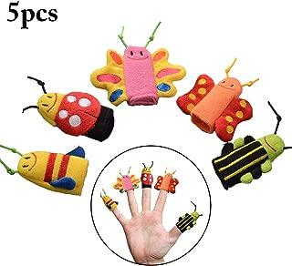 FunPa Juego de Marionetas de Dedo 5PCS en forma de mariposa de abeja Juguete interactivo con dedos para niños