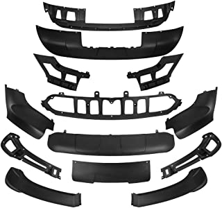 HelenAutoparts Aerodynamic Body Kit 13 Pcs for 2007-2010 BMW X5 E70 Front & Rear Bumper