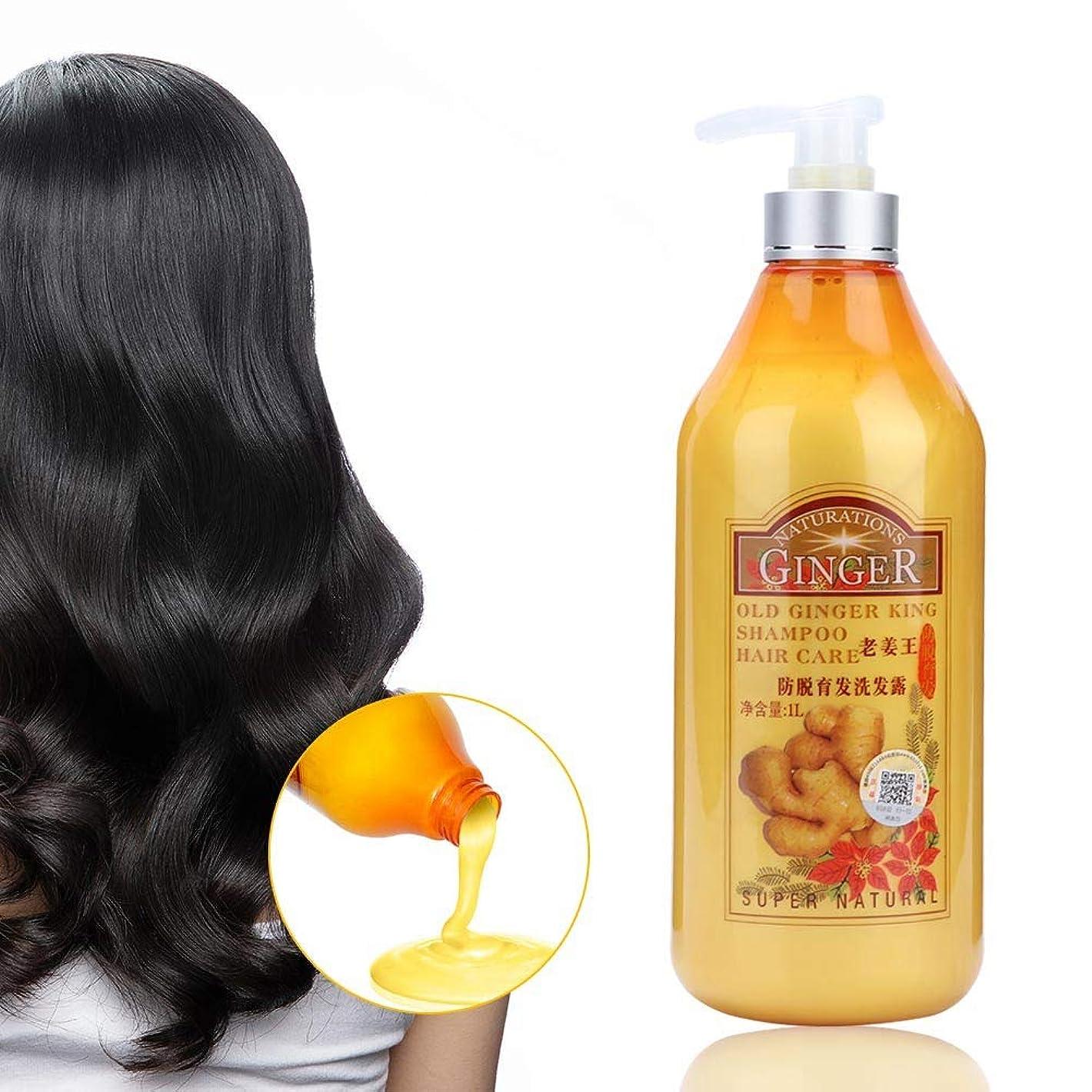 行き当たりばったり買い手びっくりするジンジャーシャンプー、すべての髪タイプ1000ミリリットルのための栄養頭皮ケアを修復するプロの抗ふけオイルコントロール