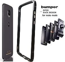 Moto Z4 Case Bumper,Compatible Moto Mods Dngn Luxury [Aluminum Metal Frame Cover] [4 Corner TPU Shockproof] for Motorola Moto Z4/z4 Play (Black)