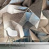 XHXI Papel pintado mural para paredes 3D estereoscópico abstracto geométrico celosía pintura de pared para sal Pared Pintado Papel tapiz Decoración dormitorio Fotomural sala sofá mural-400cm×280cm