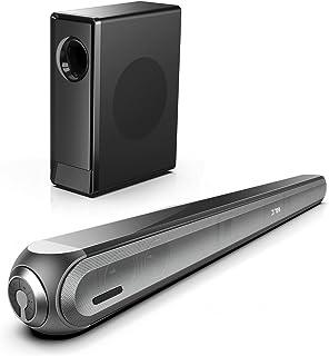 Soundbar, Dolby Atmos soundbar met draadloze subwoofer, 240 W Bluetooth-soundbar voor tv, diepe bas instelbaar, 8 EQ-modus...