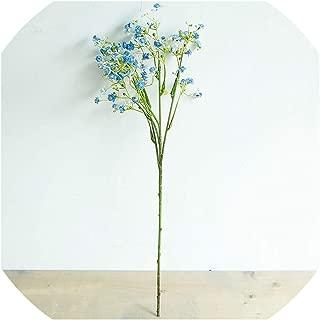 Artificial Flowers Long Stem Fake Flowers Bouquet Silk Flowers Wedding Party Home Decoration,Blue
