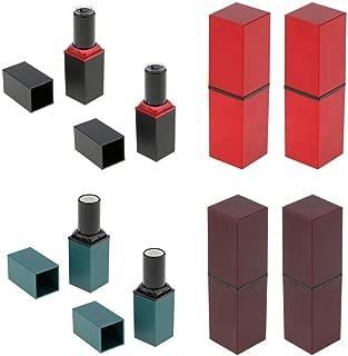 MagiDeal 8Pcs Empty Lipstick Tube Lip Balm Container DIY Cosmetic Makeup Tools 12.1mm