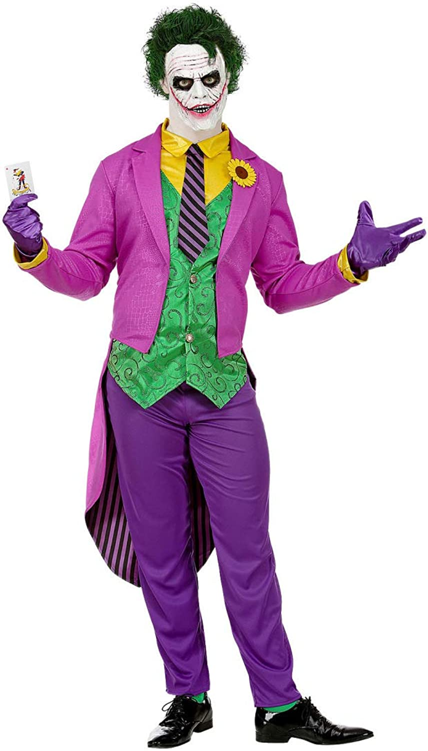NET TOYS Great Joker Costume for Men   PurpleGreen in size XL (UK 44)   Extravagant Men's Villain Outfit   Perfect for Halloween & Carnival