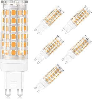 MENGS Paquete de 6 G9 Bombilla LED 12W Lámpara LED, Equivalente Halógena 95W, Blanco Cálido 3000K, AC 220-240V, 800LM Luz LED & lampara LED lampara ahorradora de energia