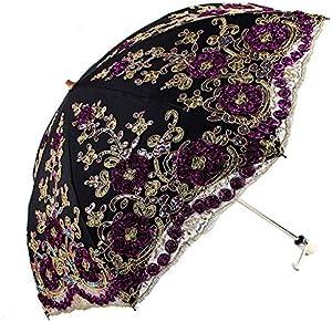 NFHFHHA Mme Parapluie Fille Se Pliant Parasol Imperméable Et Résistant Aux UV