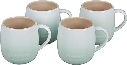 Le Creuset Stoneware Set of 4 Heritage Mugs, 13 oz. each, Ice Green