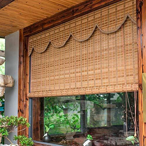 Bambus Vorhang RollläDen RollläDen Jalousie Retro Lifting Dekorative Rollo Innen- und AußEnjalousien Wasserdicht/W 130*H 250cm