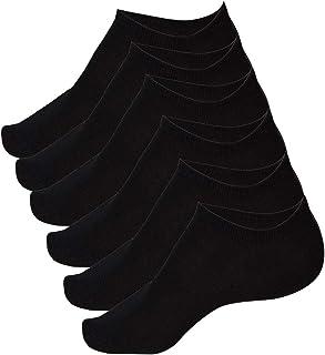 Calcetines Cortos Fantasmas 3 o 6 o 12 Pares de Algodón Negro y Blanco Unisex