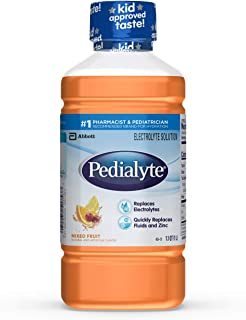 Pedialyte Electrolyte Solution, Hydration Drink, Mixed Fruit, 1 Liter, 8 Count