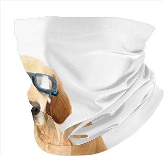Love Animal Chinese Traditional Gold Dragon Red Face Mask UV Sun Mask Dust Wind Neck Gaiter Magic Bandana