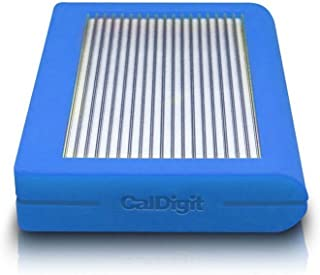 CalDigit Tuff 2TB Heavy Duty External Hard Drive with USB Type C 3.1, 2.5-inch (6.35cm) Blue