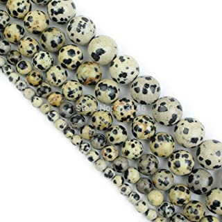 ZRBC Bulk Wholesale Assorted Natural Round Full Strand Healing Gem Semi Precious Stone Beads for DIY Bracelet Necklace Jewelry Making (Color : Dalmatian Jasper, Size : 6mm)