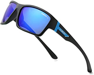 DUBERY Retro anteojos de sol polarizadas para mujer y hombre 100% protección UV Moda Cuadrado anteojos de sol de gran tamaño -D2071