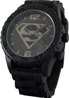 Superman Men's SUP9113 Black Strap Analog Watch