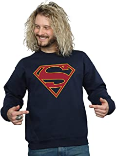 DC Comics Men's Supergirl Logo Sweatshirt