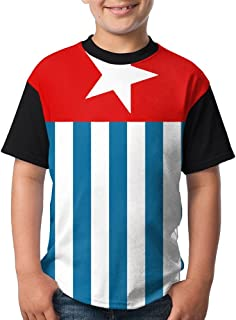 West Papua National Flag Youth Kids Sports Slim Short Sleeve T-Shirt Top Tee for Boys