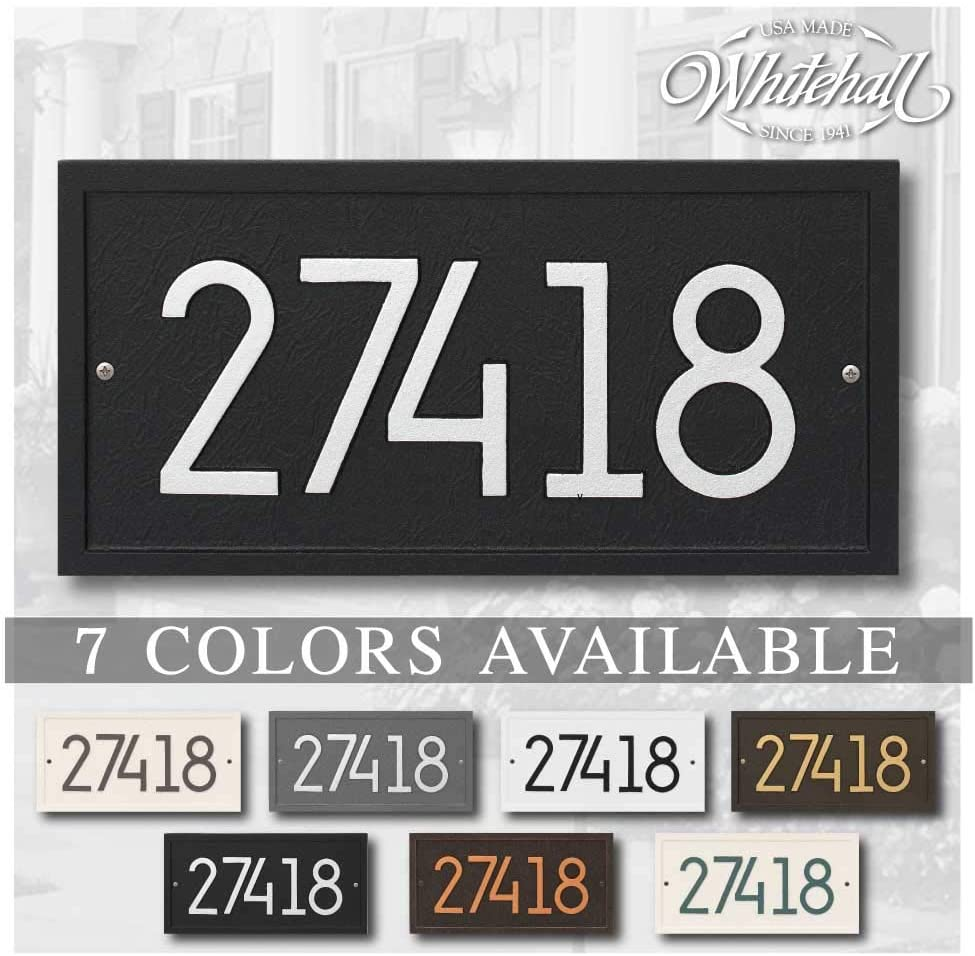 Coloured Circles Design Personalised House Number Plaque