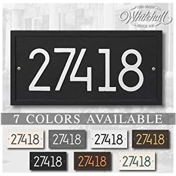 Personalized Cast Metal Address plaque - The Modern Rectangle. Display your address. Custom house number sign.