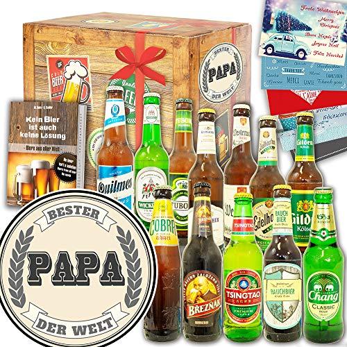 Bester Papa der Welt ++ Bier Paket Welt und DE ++ Geburtstags Idee Papa