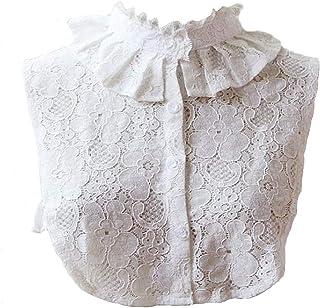 Bluefun Womens Fake Half Shirt Blouse Collar Detachable Cotton Costume