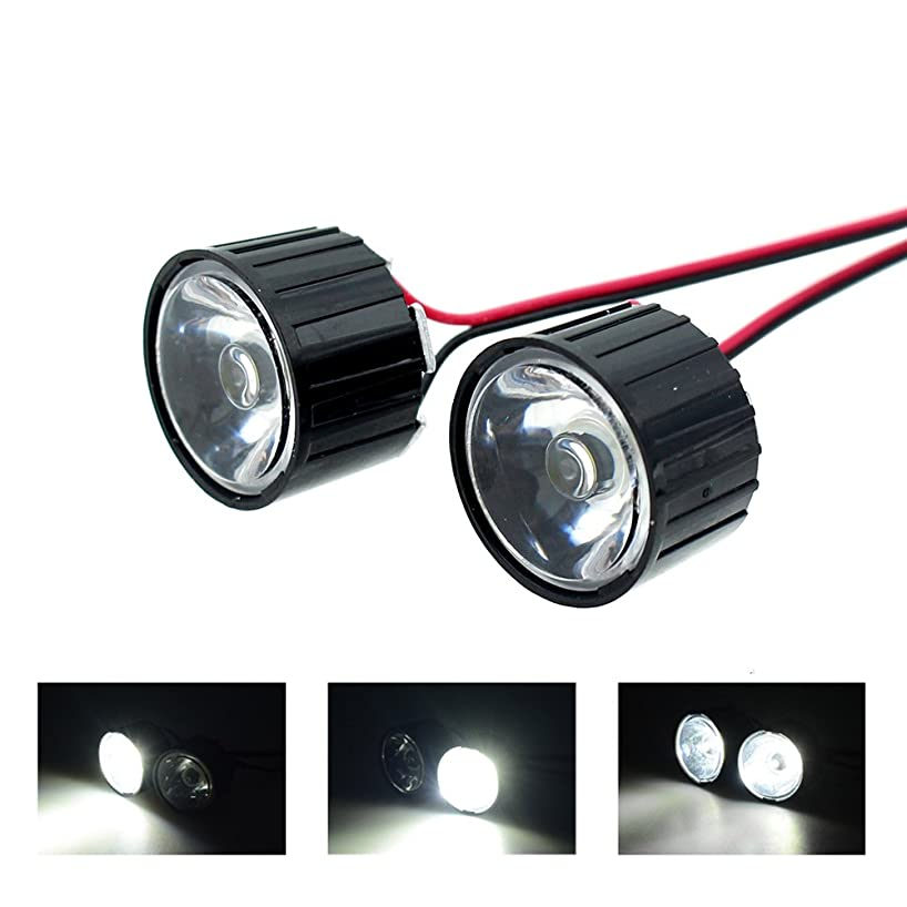 INJORA 1W DIY High Power Headlight LED Lights with Controller Board for 1:10 RC Rock Crawler Axial SCX10 1:8 RC Car Traxxas HSP HPI