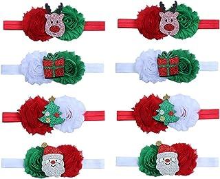 8 قطع عصابات رأس طفل عيد الميلاد لطيف عصابات الرأس اكسسوارات الشعر للأطفال الرضع البنات
