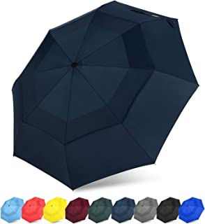 G4Free Auto Open Close Folding Umbrella Compact Travel Umbrella with Safe Lock Double Canopy Windproof
