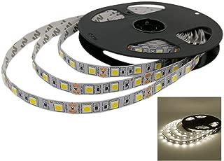 YUNBO LED Strip Lights Natural White 4000-4500K NO Waterproof 12V Flexible LED Tape Lights Cuttable 300 Units SMD 5050 LED Lighting 16.4ft/5m