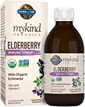 Garden of Life Mykind Organics Plant Based Elderberry Immune Syrup 6.59 Fl Oz (195 Ml) for Kids & Adults - Sambucus, Echinacea, Zinc & Vitamin C, 0g sugar herbal Supplements